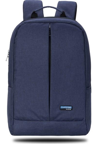 """Classone Z Serisi 15.6"""" Notebook Sırt Çantası - Mavi"""
