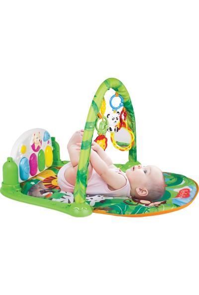 Babies Sevimli Orman Piyanolu Aynalı Oyun Halısı Jimnastik Merkezi 5 In 1