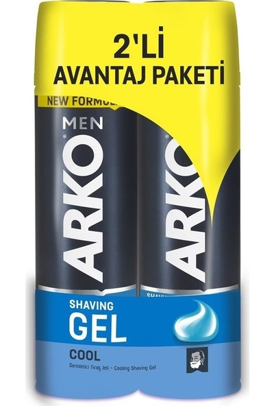 Arko Men Cool Tıraş Jeli 200 ml 2'li set 2 X 200 ml