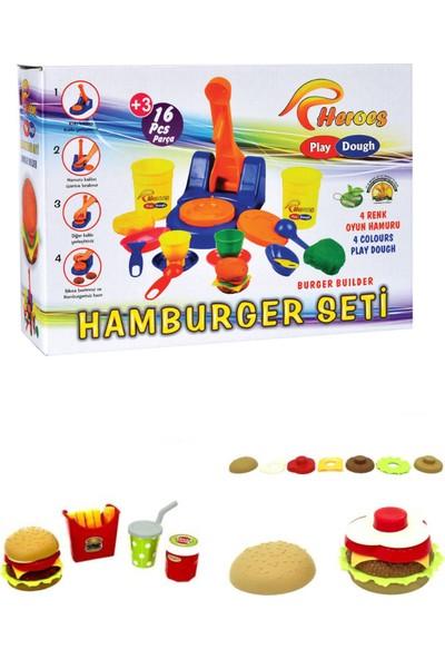 Heroes Eğitici Hamburger Oyun Hamuru Seti 16 Parça