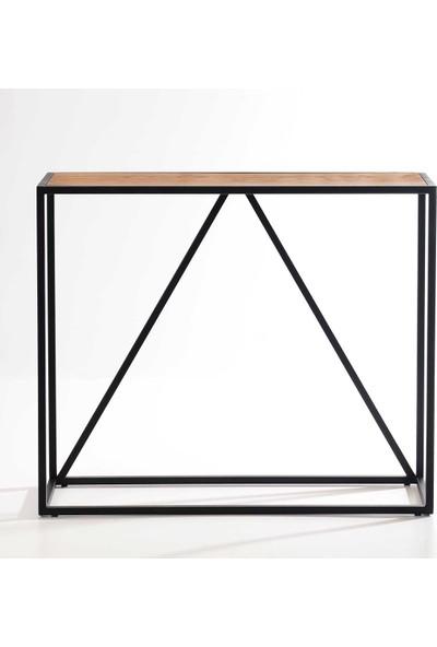 Ahşap Sokağı Frame Metal Ayaklı Ahşap Dresuar