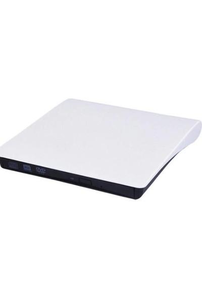 Pop-Up Harici Taşınabilir Usb 2.0 & 3.0 Dvd-Rw Beyaz