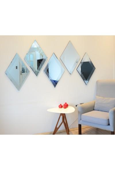 NEOstill -Dekoratif Baklava Desenli Salon Duvar Ayna 68x45cm