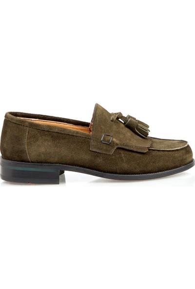 Celal Gültekin Celal Gültekin Cg 105 Erkek Ayakkabı Yeşil Suet