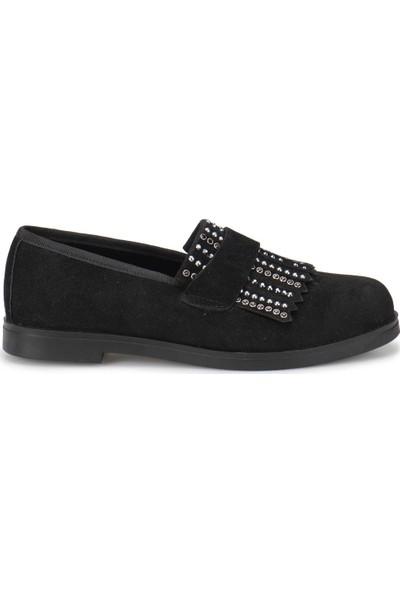 Butigo Z087 Siyah Kadın Loafer Ayakkabı