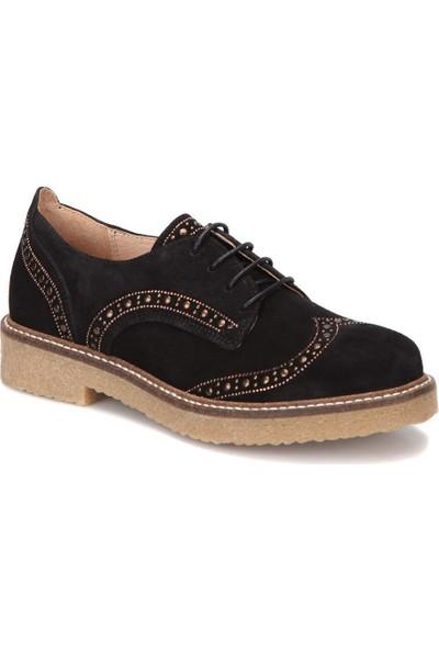 Butigo 28452 Siyah Kadın Deri Oxford Ayakkabı