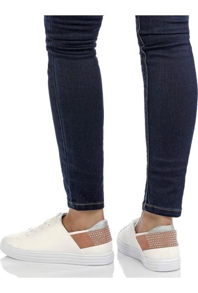 Butigo Cs18058 Beyaz Kadın Sneaker 534