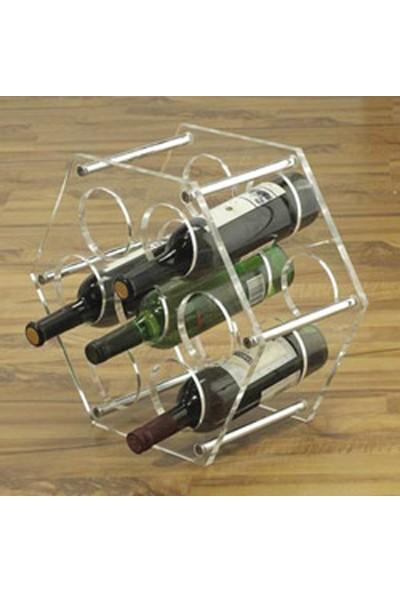 DiDiDeko Pleksi Altıgen Şaraplık