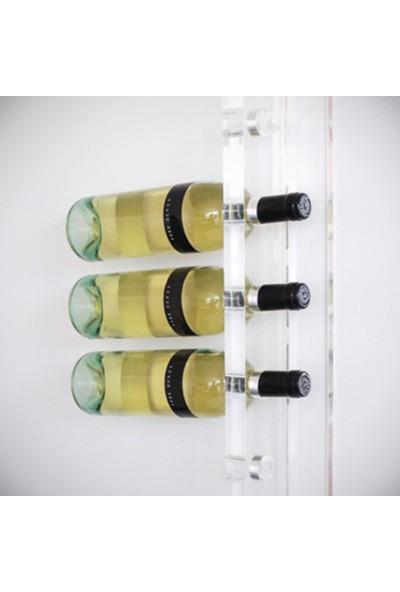 DiDiDeko Pleksi Duvar Montajlı Şaraplık