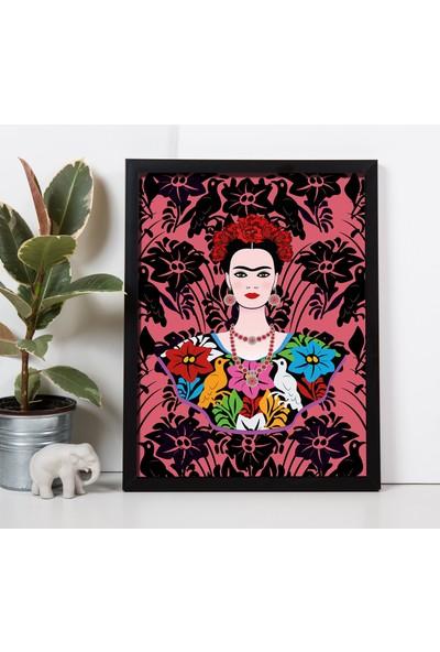 Miya Design Frida Siyah Çerçeveli Poster 30 x 40 cm