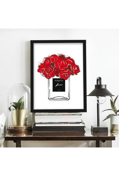 Miya Design Güller Siyah Çerçeveli Poster 21 x 30 cm