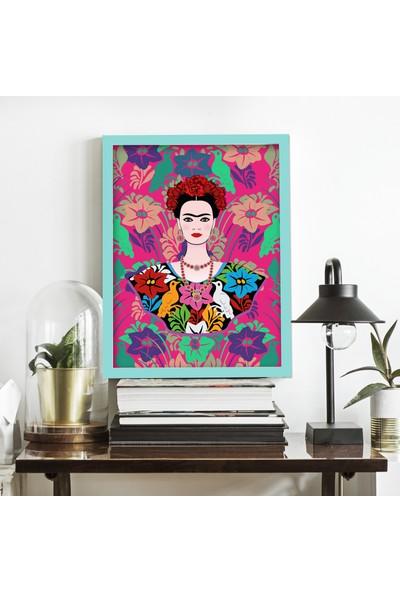 Miya Design Frida Mavi Çerçeveli Poster 21 x 30 cm
