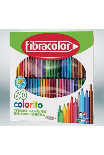 Fibracolor Colorito 60 Renk Keçeli Kalem