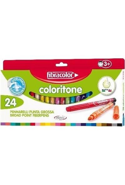 Fibracolor 24 Renk Keçeli Kalin Kalem