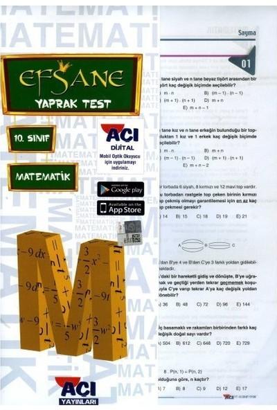 Açı 10. Sınıf Matematik Çek Kopar Yaprak Test