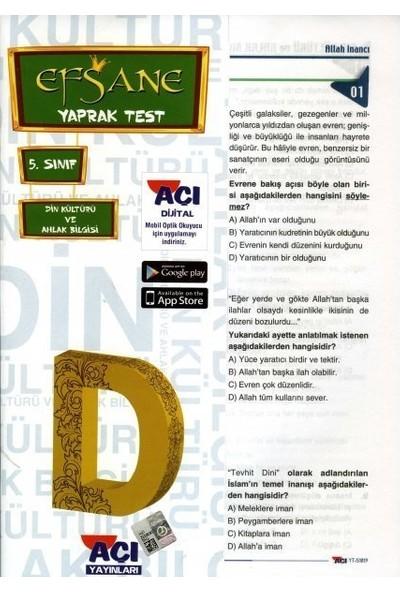 Açı 5. Sınıf Din Kültürü Ve Ahlak Bilgisi Çek Kopart Yaprak Test