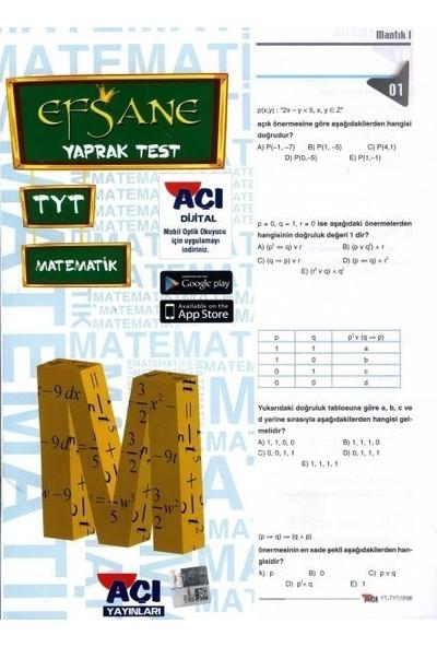 Açı Tyt Matematik Çek Kopart Yaprak Test
