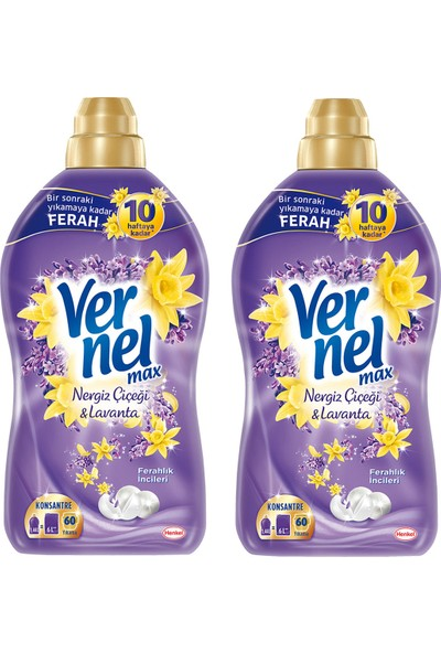 Vernel Max Nergiz Çiçeği&Lavanta Max 1440 ml 2'li Set