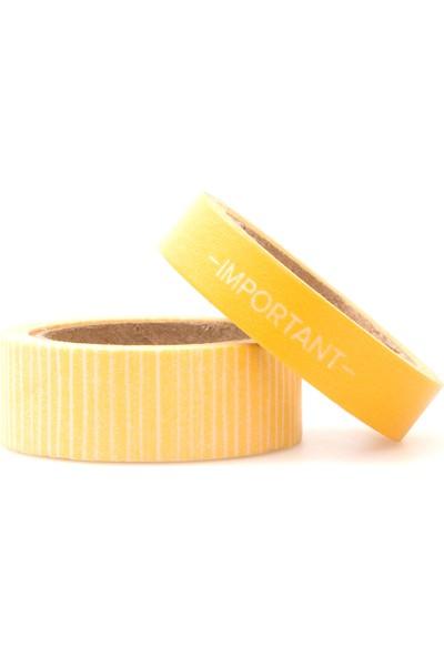 Wr Washi Reminder Yellow 2 Pcs Desenli Bant