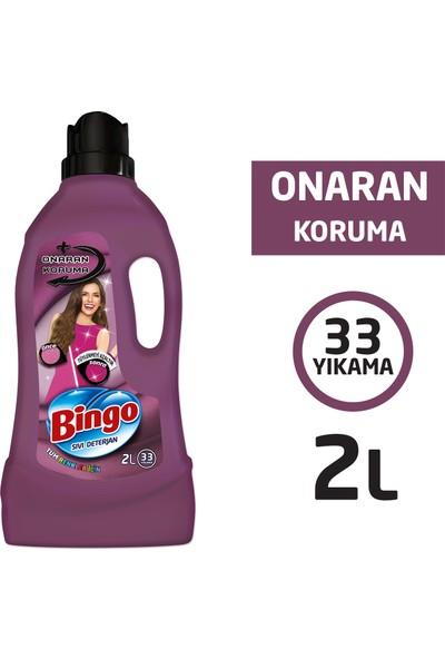 Bingo Onaran Koruma Sıvı Bakım Çamaşır Deterjanı 2 L