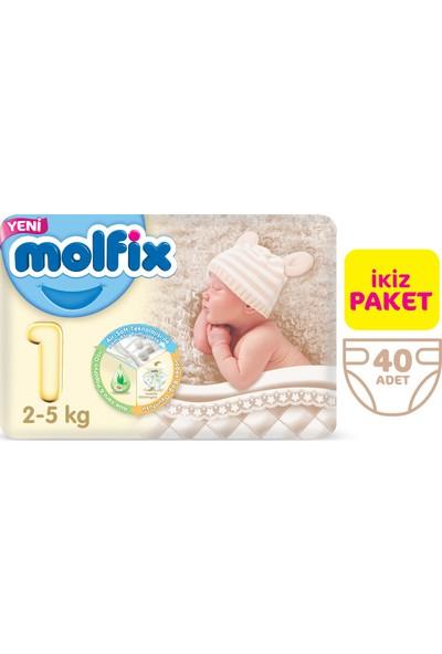 Molfix Bebek Bezi 1 Beden Yenidoğan İkiz Paket 40 Adet
