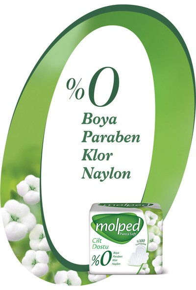Molped Pure&Soft Hijyenik Ped Normal Dev Ekonomik 38 Adet