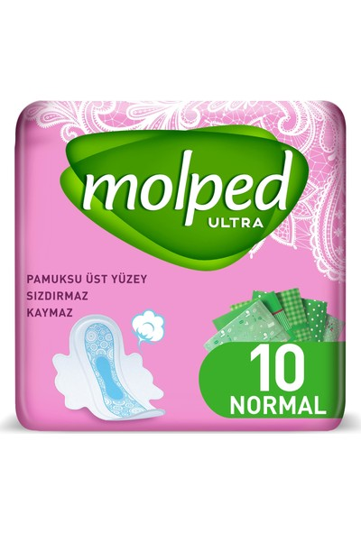 Molped Ultra Hijyenik Ped Normal 10 Adet