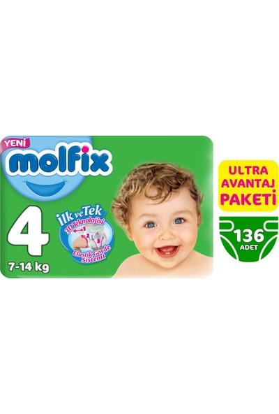 Molfix Bebek Bezi 4 Beden Maxi Ultra Avantaj Paketi 136 Adet