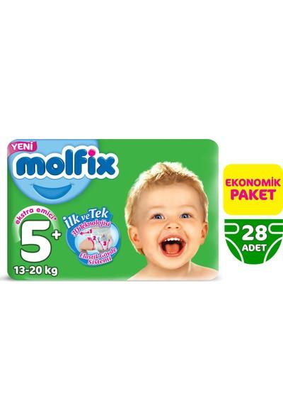 Molfix Bebek Bezi 5+ Beden Junior Plus Ekonomik Paket 28 Adet