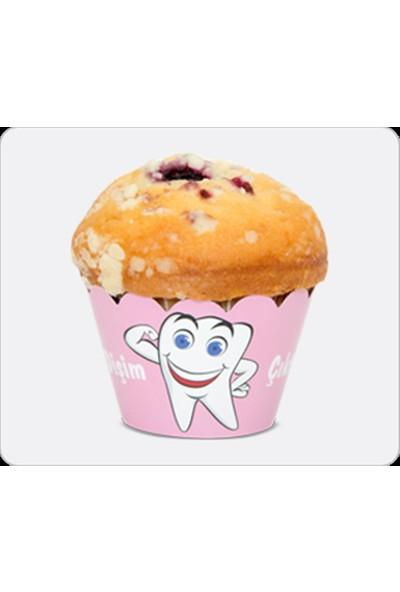 Party Shop İlk Dişim Pembe Cupcake Kağıtları 10lu