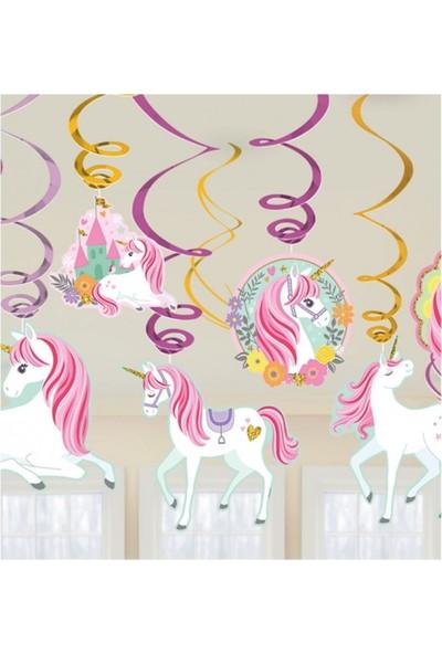 Party Shop Unicorn Süs Dalgası 12li
