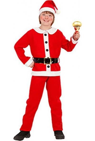 Party Shop Noel Baba Çocuk Kostüm 6-9 Yaş