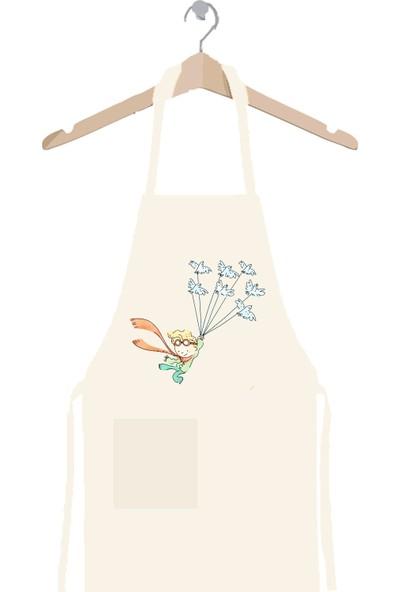 Art T-shirt Küçük Prens Kuşlar Mutfak Önlüğü
