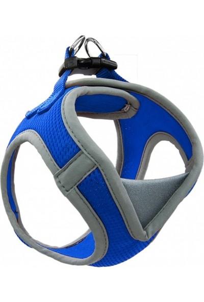 Doco Kolay Giydirilebilen Sportif ve Hava Geçiren Boyunluklu Koşumluk XL Mavi