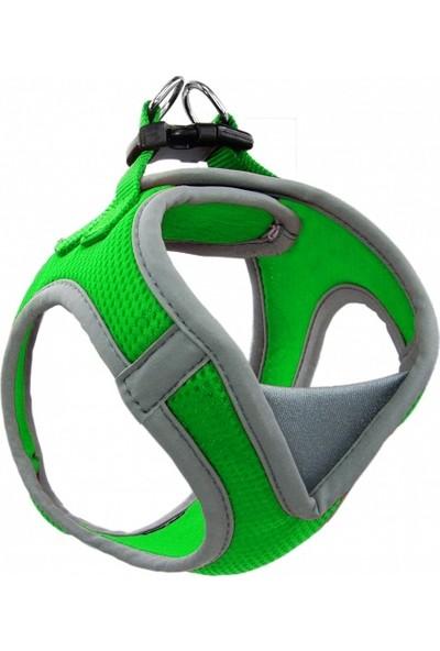 Doco Kolay Giydirilebilen Sportif ve Hava Geçiren Boyunluklu Koşumluk L Yeşil