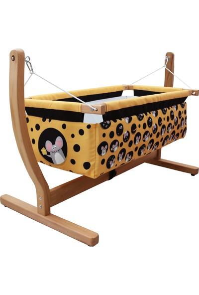 MakeArt Baby Anne Yanı Organik Ahşap Bebek Hamak Beşik 00116