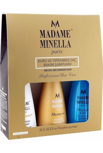 Madame Minella Kuru Ve Yıpranmış Saç Bakım Şampuan 250 ml +Duş Jeli 250 ml + Saç Kremi 250 ml
