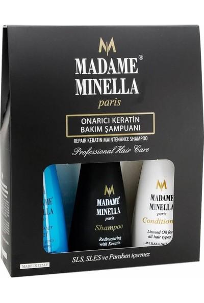 Madame Minella Keratin Bakım Şampuan 250 ml +Duş Jeli 250 ml + Saç Kremi 250 ml