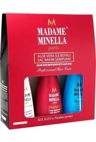 Madame Minella Aloe Vera Şampuan 250 ml +Duş Jeli 250 ml + Saç Kremi 250 ml