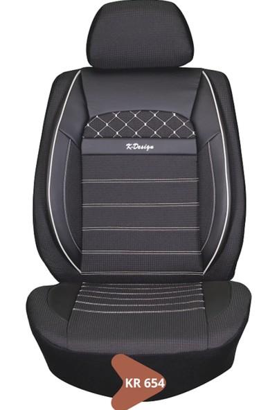K Dizayn Ford Focus C-Max Yanlar Deri Ortası Kumaş Koltuk Kılıfı Koltuk Döşemesi Takımı