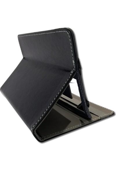 """Smart Universal 7"""" Standlı Deri Tablet Kılıfı Siyah MD126"""