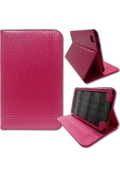 Smart Samsung Galaxy Tab T310 Deri Standlı Tablet Kılıfı MD141
