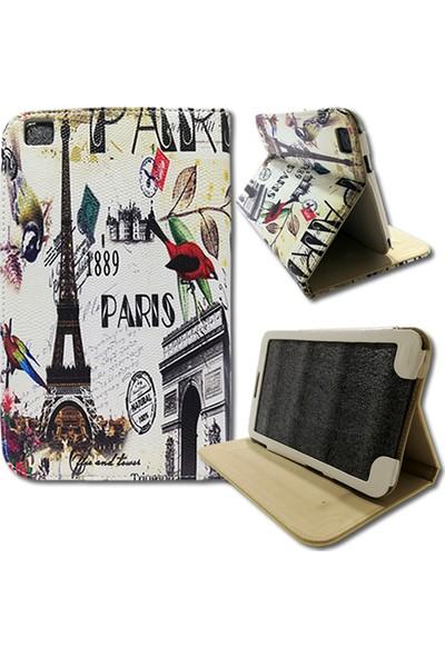 Smart Samsung Galaxy Tab T310 Deri Standlı Tablet Kılıfı MD143
