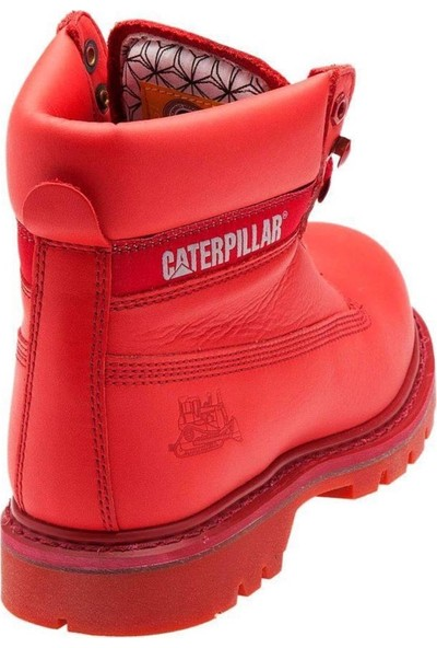Caterpillar Colorado Red Brights Deri Kadın Bot