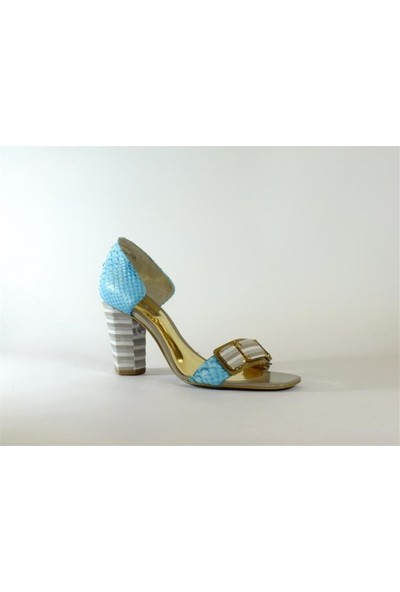 Dumond 09Y4101893 Yeşil Yılan Kadın Topuklu Ayakkabı