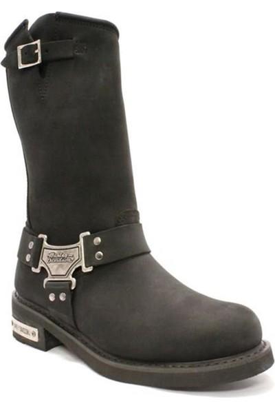 Harley Davidson Bailey Black Deri Kadın Çizme