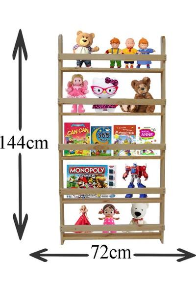 Köşk Mobilya Montessori Raf Kitaplık 4'Lü