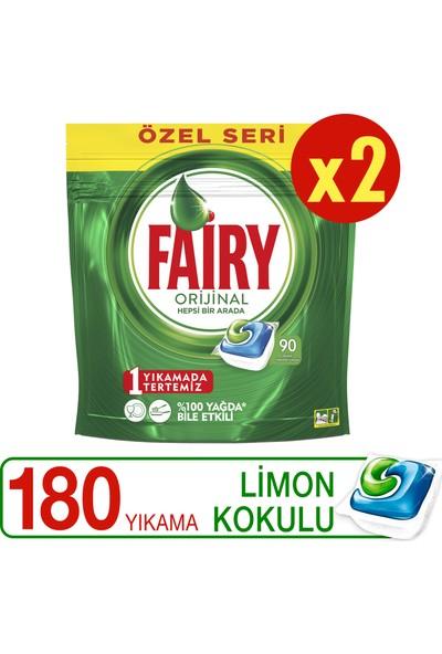 Fairy Hepsi Bir Arada Bulaşık Makinesi Deterjanı Kapsülü Limon Kokulu Özel Seri 90 x 2 Yıkama