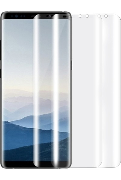 Ally For Galaxy Note 9 3D Kavisli Darbe Emici Full Ekran Koruyucu 2 Adet Set