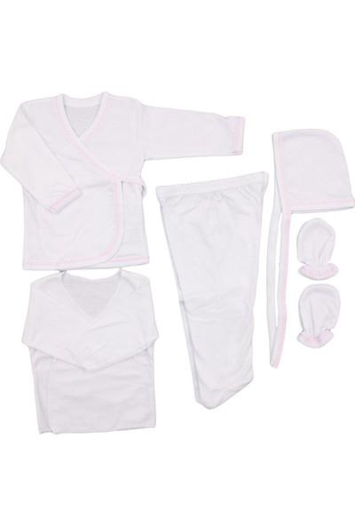 Özlem Bebe Düz 5'Li İç Zıbın Seti Pembe
